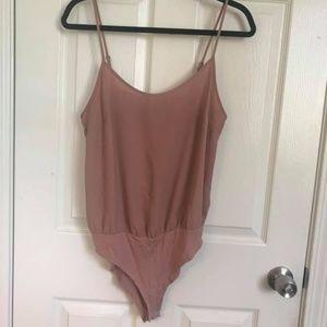 Pink Tank Top Bodysuit